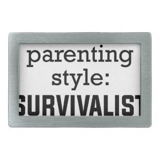 Survivalist Parenting Belt Buckles