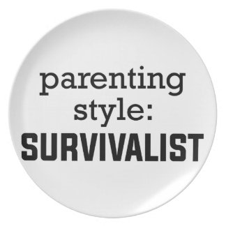 Survivalist Parenting Plate