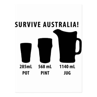 survive australia - beer postcard