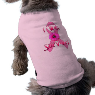 Survive Breast Cancer Sleeveless Dog Shirt