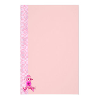 Survive Breast Cancer Stationery