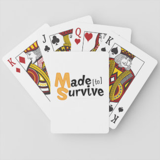 Survive Multiple Sclerosis Awarness Playing Cards