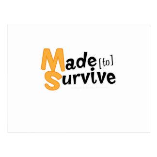 Survive Multiple Sclerosis Awarness Postcard