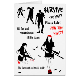 Survive The Night Halloween customizable Card