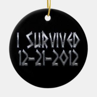 Survived 2012 ceramic ornament
