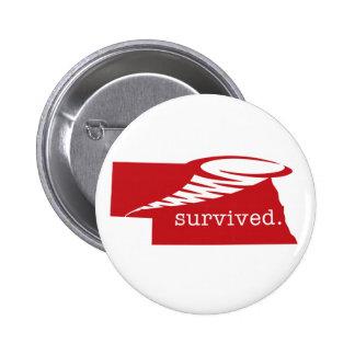 Survived. 6 Cm Round Badge