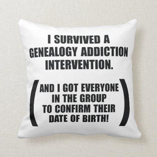 Survived Genealogy Addiction Intervention Pillows