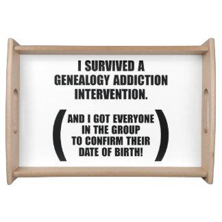 Survived Genealogy Addiction Intervention Service Trays