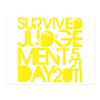 Survived Judgement Day 2011 Post Cards