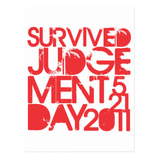 Survived Judgement Day 2011 Post Card