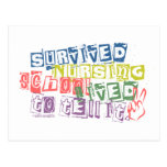 Survived Nursing School - Lived to Tell it Postcard
