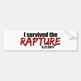 Survived the Rapture Bumper Sticker