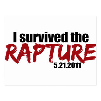 Survived the Rapture Post Card