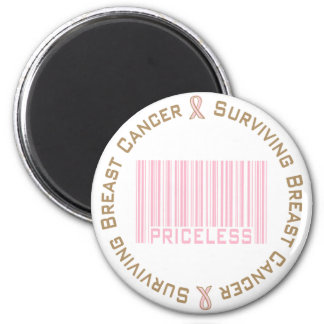 Surviving Breast Cancer Priceless 6 Cm Round Magnet