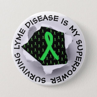 Surviving Lyme Disease Superpower Button