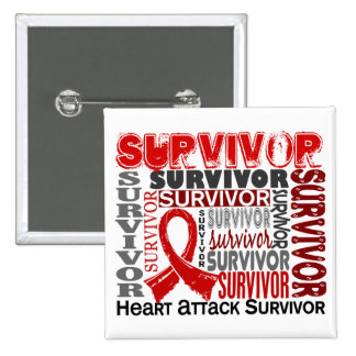 Survivor 10 Heart Attack Pin