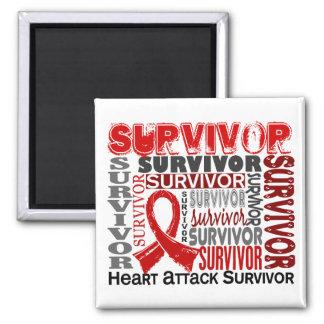 Survivor 10 Heart Attack Refrigerator Magnet