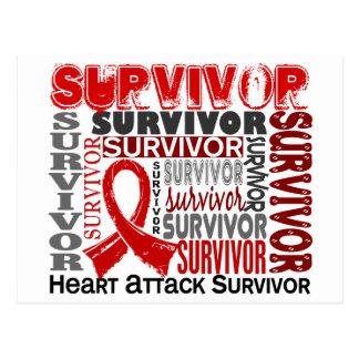Survivor 10 Heart Attack Postcard