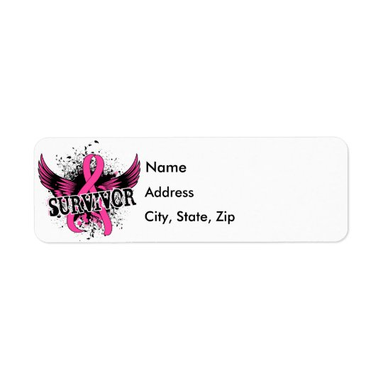 Survivor 16 Breast Cancer Return Address Label