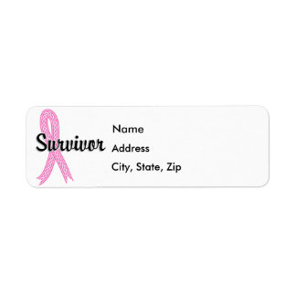 Survivor 17 Breast Cancer Return Address Label