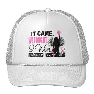 Survivor 22 Breast Cancer Mesh Hat