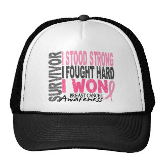 Survivor 4 Breast Cancer Trucker Hat