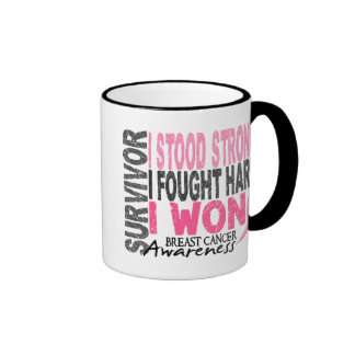 Survivor 4 Breast Cancer Coffee Mugs