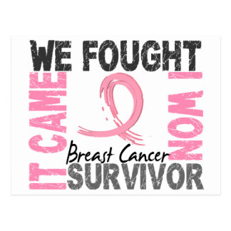 Survivor 5 Breast Cancer Postcard