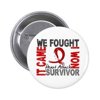 Survivor 5 Heart Attack Pinback Button