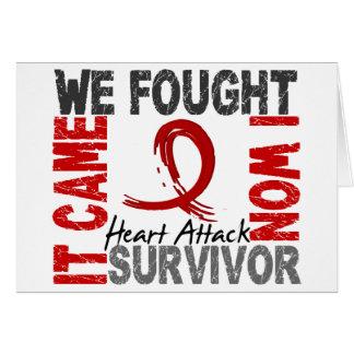 Survivor 5 Heart Attack Greeting Card