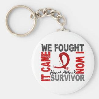 Survivor 5 Heart Attack Keychains