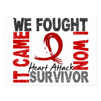 Survivor 5 Heart Attack Postcard