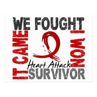 Survivor 5 Heart Attack Postcard