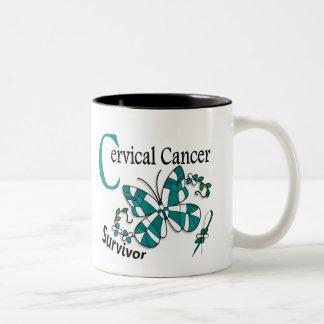Survivor 6 Cervical Cancer Two-Tone Mug
