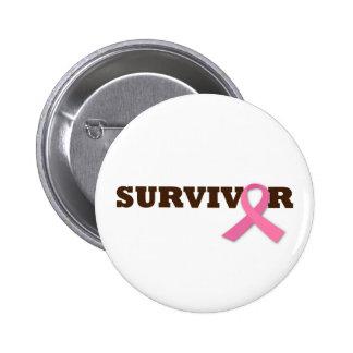 Survivor 6 Cm Round Badge