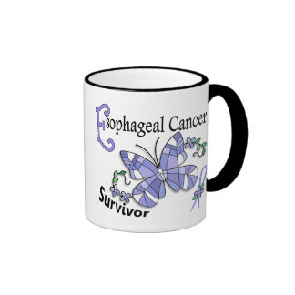 Survivor 6 Esophageal Cancer Ringer Coffee Mug
