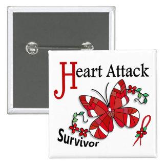 Survivor 6 Heart Attack Pinback Buttons