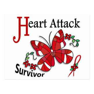 Survivor 6 Heart Attack Postcard
