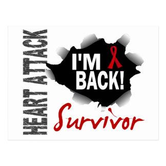 Survivor 7 Heart Attack Postcard