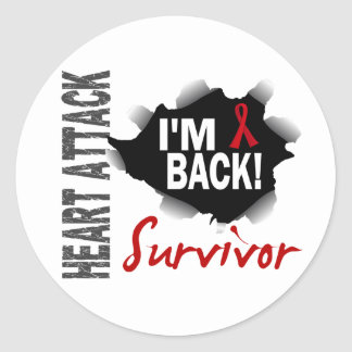 Survivor 7 Heart Attack Stickers