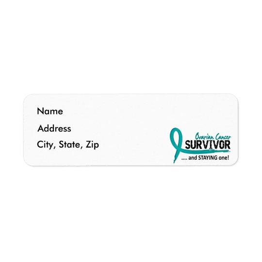 Survivor 8 Ovarian Cancer Return Address Label