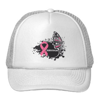 Survivor Abstract Butterfly Breast Cancer Hats
