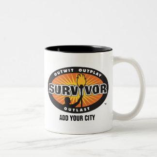 Survivor / Add Your City Two-Tone Coffee Mug