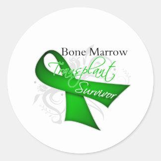 Survivor - Bone Marrow Transplant Round Stickers