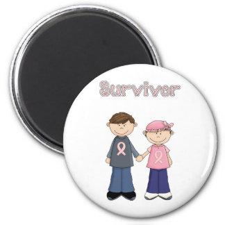 Survivor Cartoon 6 Cm Round Magnet