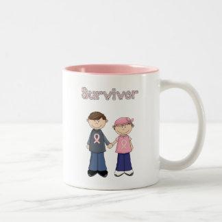 Survivor Cartoon Two-Tone Coffee Mug