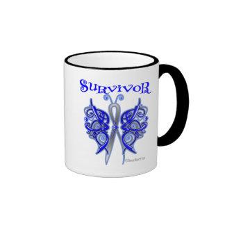 Survivor Celtic Butterfly - Colon Cancer Ringer Mug