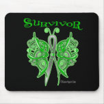 Survivor Celtic Butterfly (Green)  - Kidney Cancer Mouse Pad