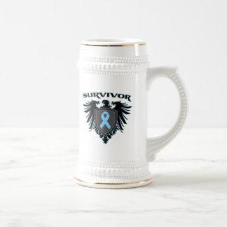 Survivor Crest For Prostate Cancer Survivors Coffee Mugs