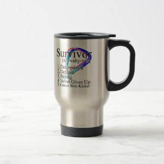 Survivor Definition - Thyroid Cancer 15 Oz Stainless Steel Travel Mug